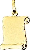The Jewelry Collection Graveerhanger Perkament Poli/mat - Goud