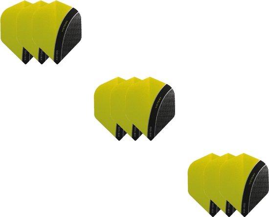 3 Sets (9 stuks) XS100 Curve flights Multipack - Geel