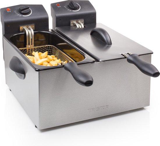 Tristar FR-6937 Dubbele friteuse – Capaciteit 2 x 3 liter – Beiden pannen zijn apart te bedienen