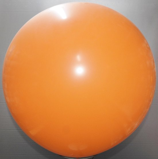 reuze ballon 160 cm 64 inch oranje