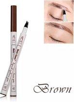 Dermarolling Waterproof Liquid Eyebrow Pen 02 Brown