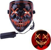 Led verlichting party masker Vendetta / Purge feest masker / halloween met meerdere standen. Rood