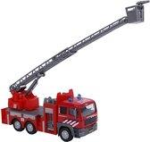 Die Cast brandweer ladderwagen licht+geluid 16x8x4
