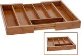 Excellent Houseware Bestekbak hout uitschuifbaar