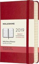 Moleskine agenda 2019 - 12 maanden - Dagelijks - Rood - Pocket - Hard cover