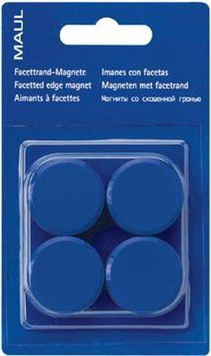 Maul magneet MAULsolid, diameter 38 mm, blauw, blister van 2 stuks