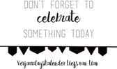 Verjaardagskalender - Zwart Wit - Inspiratie - 'Qu