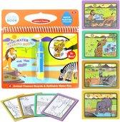 Magische Water Kleurboek voor Kinderen Wilde Dieren - Kleuren met Water - Magic Pen Tekenboek - Hobbypainting.nl®