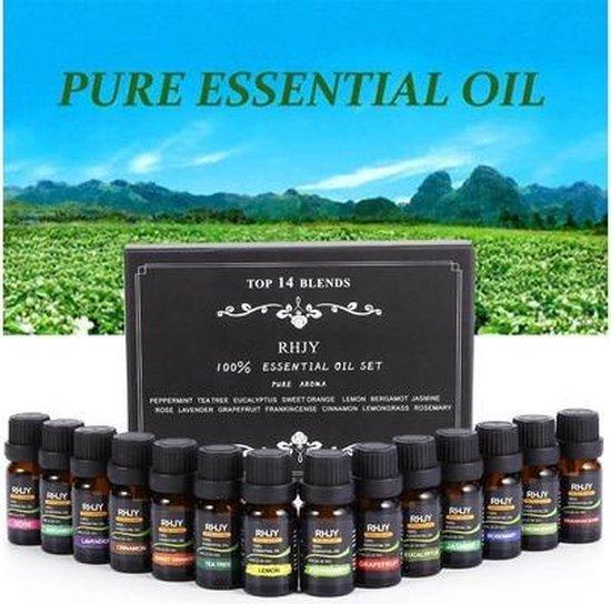 Etherische essentiële oliën voor geurverspreider of aromadiffuser - 14 stuks