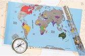 Out of the Blue Scratch World Map - Wereldkaart - Scratch Map