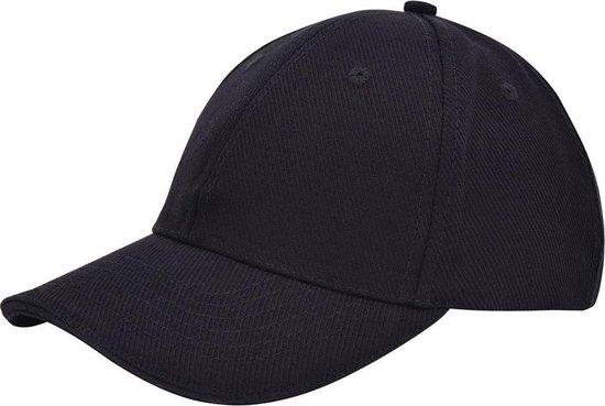Benza luxe canvas sandwich Baseballcap - Zwart