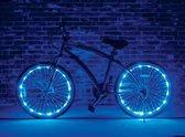 LED Wielverlichting fiets - set van 2 Blauw