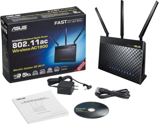 RT-AC68U - Router - 1900 Mbps