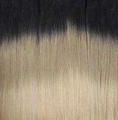 Bighair Clip-in Extension Ombre Donkerbruin/Lichtblond T2/18# 8 banen - 50cm - 150gram