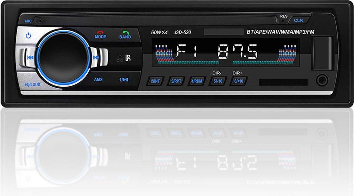 Strex Autoradio voor alle auto's met Bluetooth, USB, AUX en Handsfree - Afstandsbediening - Enkel DI