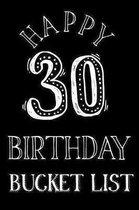 Happy 30th Birthday Bucket List