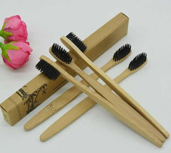 Bamboe Tandenborstel - Zacht/medium voor gevoelige tandvlees - 100% organic