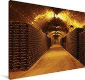 Foto van een wijnkelder Canvas 140x90 cm - Foto print op Canvas schilderij (Wanddecoratie woonkamer / slaapkamer)