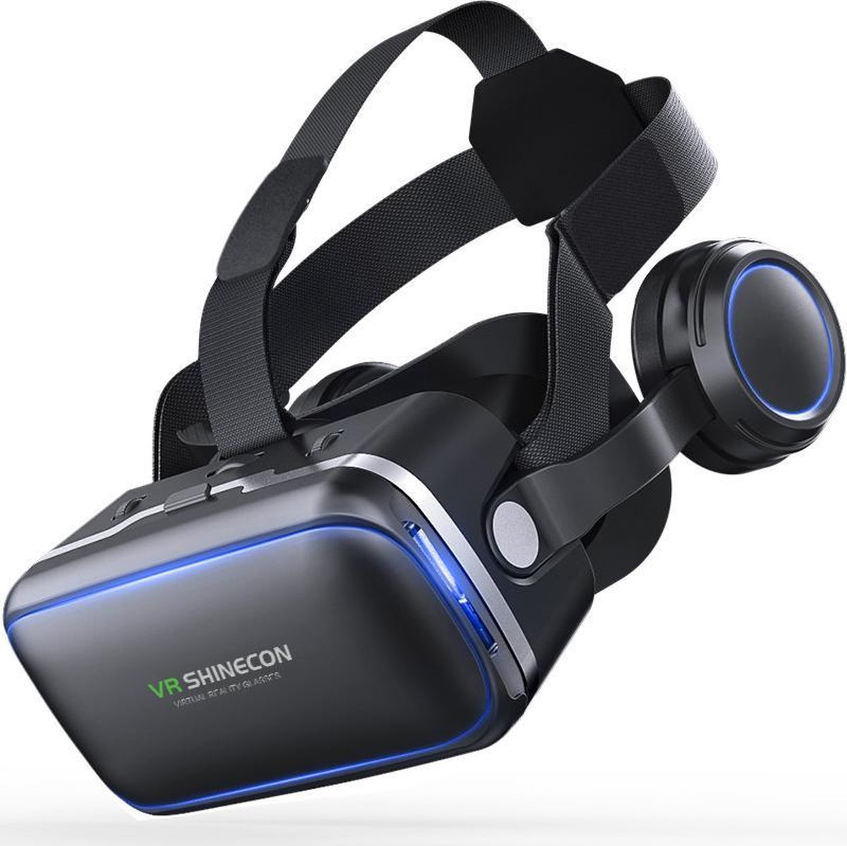 Shinecon® 6.0 Pro - 3D Virtual Reality Bril IMAX 3D - Ingebouwde VR Hoofdtelefoon - IOS/Android - Be