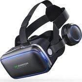 Shinecon® 6.0 Pro - 3D Virtual Reality Bril IMAX 3D - Ingebouwde VR Hoofdtelefoon - IOS/Android - Best Geteste Versie