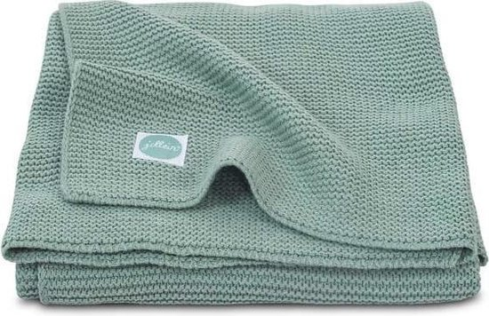 Jollein Wiegdeken Basic knit - 75x100 cm - Forest Green