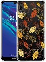 Huawei Y6 2019 Hoesje Falling Leaves