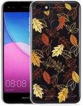 Huawei Y6 Pro 2017 Hoesje Falling Leaves