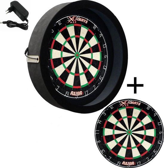 Dragon darts - dartbord verlichting - Sorpresa PRO - Zwart - dartbord berscherm ring - inclusief XQ Max Razor 1 - PRO - dartbord