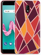 Wiko Lenny 5 Hoesje Colorful Triangles