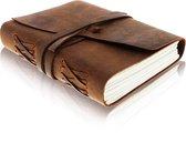 Afbeelding van Grayham Notitieboek 100% Buffel Leer - 200 Blanco Paginas -