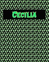 120 Page Handwriting Practice Book with Green Alien Cover Cecilia