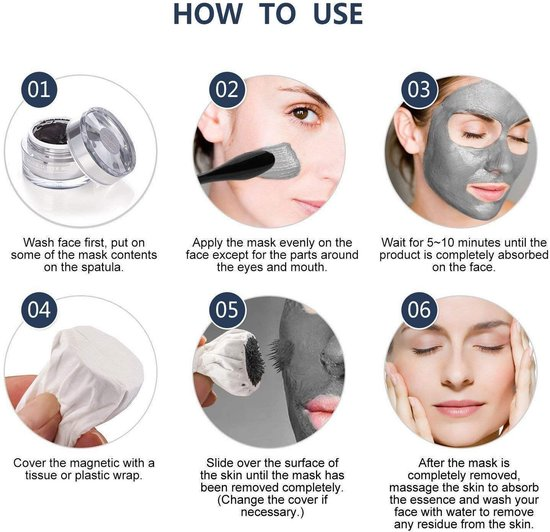Magnetic Mask | gezichtsmasker | Anti -age | Ontgiftigt en zuivert de huid | Anti rimpel verzorging - AT-Shop.nl