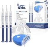 E Shoppr® Professionele Tandenbleekset - 3 Gelspuiten - 3D LED Teeth Whitening Kit - Veilig Tanden Bleken Thuis - Zonder Peroxide (0%) – Effectieve Tandenbleker - Witte Tanden