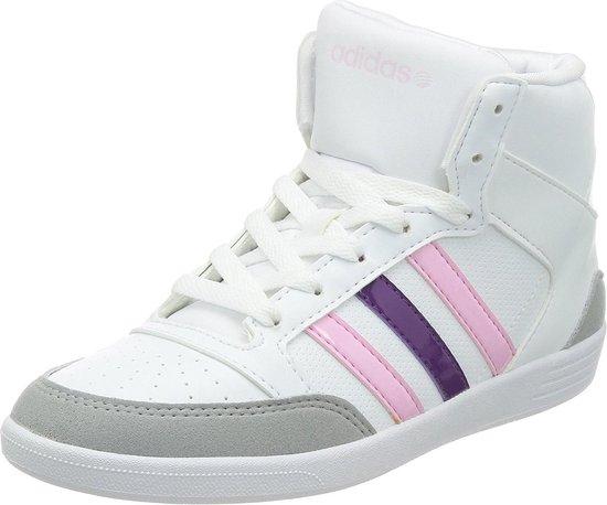 bol.com | Adidas Hoge Sneakers Vlneo Hoops Dames Wit Maat 39 1/3