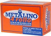 Metalino Staalwol rollen - 4 rollo