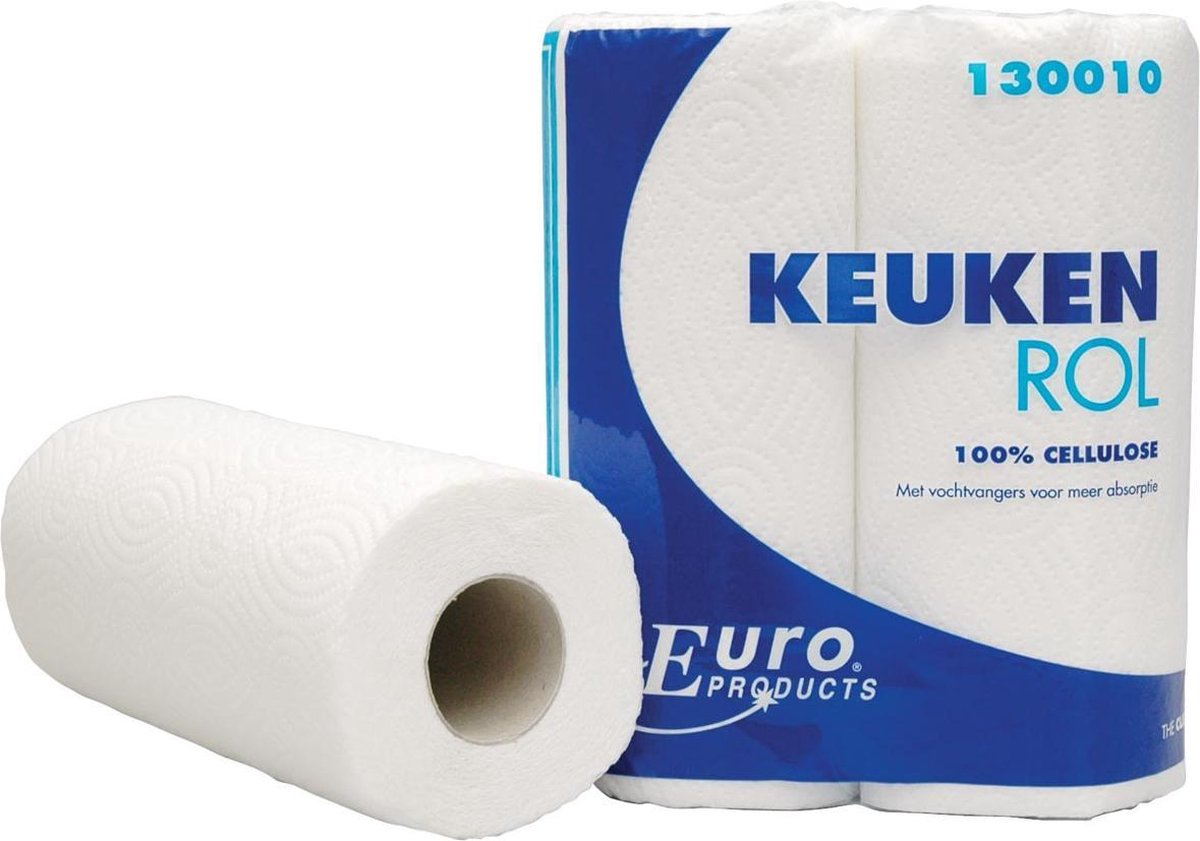 Euro Products Keukenrol Cellulose 22x23 Cm 50 Vellen 2 Stuks