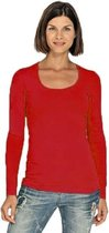 Bodyfit dames shirt lange M