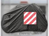 Zwarte Waterdichte Beschermhoes Voor 2 Fietsen - Met Ruimte Voor Markeringsbord - Geschikt Voor Dissel - Caravan - Camper - Fietsdrager - Fietsendrager - Bescherming Tegen Weer en Wind - Waterdicht - Waterafstotend - Afdekzeil - Hoes - Bavepa