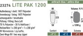 High Peak Lite Pak 1200 Mummieslaapzak - Grijs