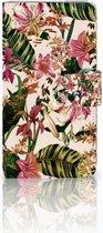 Telefoonhoesje Microsoft Lumia 640 Book Case Hoesje Flowers