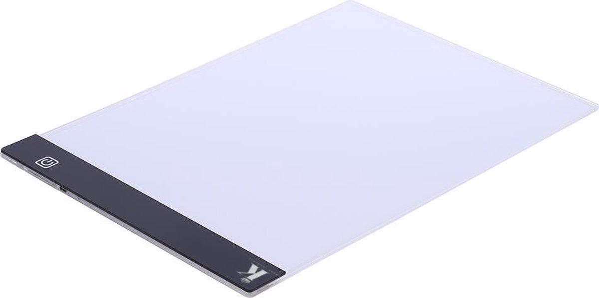Ultradunne LED Lightpad A4 - dimbaar - Ideaal voor Diamond Painting - Lichtgewicht design