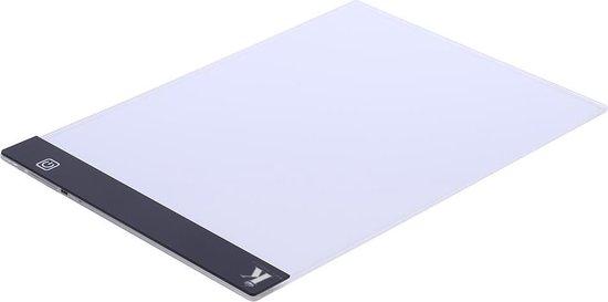 Afbeelding van Ultradunne LED Lightpad A4 - dimbaar - Ideaal voor Diamond Painting - Lichtgewicht design speelgoed