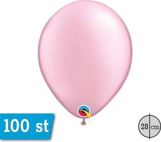 Qualatex ballonnen 100 stuks Pearl Pink