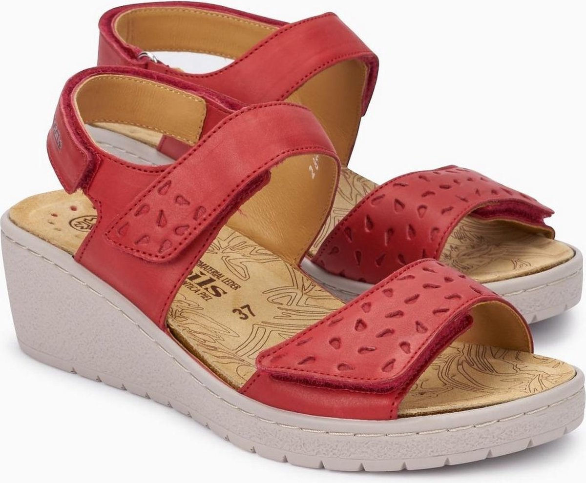 Mobils by Mephisto PENNY PERF Dames Sandaal Extra Breed Rood Maat 40