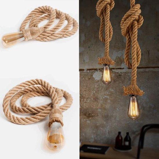 Touwlamp - Handgemaakt Design - 1m - 2 Fittingen - Trendige uitstraling