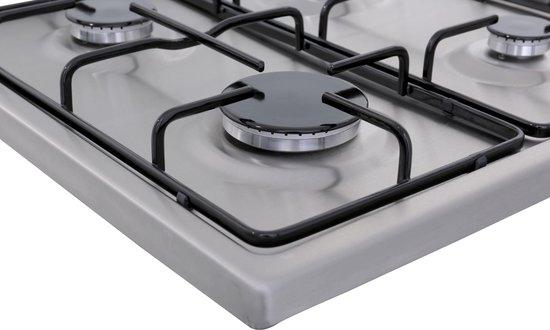 ETNA KGV358RVS - Vrijstaande Gas kookplaat - RVS