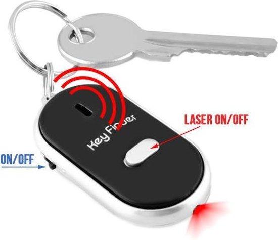 Terugfluitende Key Finder Tracker Detector Sleutelhanger - Fluitende Sleutelzoeker / Sleutelvinder Met Alarm - Sleutels Keyfinder - Zwart