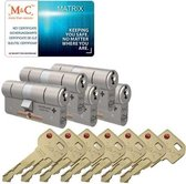 Matrixset van 5 SKG*** / 7 metalen sleutels