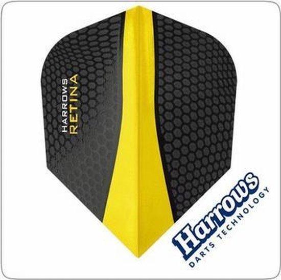 Afbeelding van het spel Harrows flights Retina Yellow  Set à 3 stuks