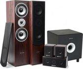 Fenton 5.1 home cinema surround walnoot speakerset 1300W met 8 subwoofer